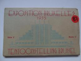 CPA. BELGIQUE.EXPOSITION DE BRUXELLES.1935.  CARNET DE 10 CARTES. - Belgique