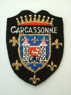 ECUSSON TISSUS BRODE  - CARCASSONNE - Blazoenen (textiel)