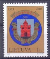 LT 2003-828 COAT OF ARMS, LITHUANIA, 1 X 1v, MNH - Briefmarken