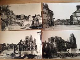 11 Cartes Photos Sur Les Bombardements De Gisors (Eure 27) Du 7 Au 11 Juin 1940. Photos P.Heron - Gisors