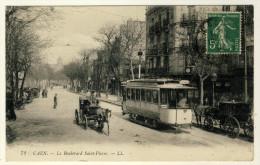 Caen - Tramway Gros Plan - Oblitération Année 1914 - Tranvía