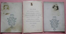 LOT 3 MENUS MONSIEUR PELLENC - 1913 - AVEC 2 PHOTOS D'ENFANTS EN NOIR ET BLANC - Menu