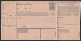 DR 40 Pf. Germania Als Ganzsache Auf Postanweisung Ungebraucht (Mi. A44) - Deutschland