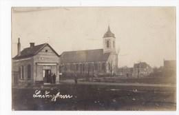 Ledegem   FOTOKAART EERSTE WERELDOORLOG Met Zicht Op De Wachtzaal En De Omgeving Van De Kerk - Ledegem