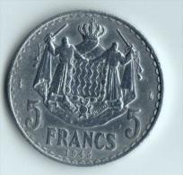 ** 5 FRANCS MONACO ALLU.1945 TTB+ ** - Monaco