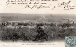 FONTAINEBLEAU Panorama Sur Le Viaduc Et Avon - Fontainebleau