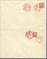 1935  Birthday T.G. Masaryk  2 Postmarks On Covers   Uzhorod & Kosice - Czechoslovakia