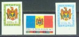 MD 1992-1-3 NATIONAL SIMBOL, MOLDAVIA, 1 X 3v, MNH - Briefmarken