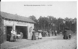 ST MARS DE LOCQUENAY : La Gare - CPA Utilisée Vers 1910 - Très Animée - Frankreich
