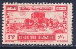 Lebanon, Scott # 229 Mint Hinged Citadel Of Joubayl, 1949 - Liban