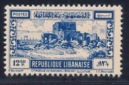Lebanon, Scott # 231 Mint Hinged Citadel Of Joubayl, 1949 - Lebanon