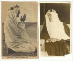 Saudi Arabia King  Faisal Bin Abdul Aziz  Originale Photo & News Paper Size 4 INCH By 2.1/2 - Geïdentificeerde Personen