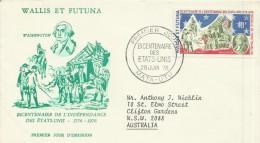 Wallis Et Futuna 1976 American Bicentenary FDC - FDC