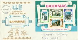 Bahamas 1975 Economic Diversification  Souvenir Sheet FDC