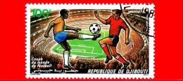 GIBUTI - Djibouti - Nuovo - 1986 - Calcio - Coppa Del Mondo - Mexico 1986 - World Cup Soccer - Stadio - 100 P.aerea - Gibuti (1977-...)