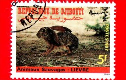 GIBUTI - Djibouti - Nuovo - 1987 - Animali Selvatici - Lepre - Hare - 5 - Gibuti (1977-...)