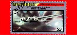 GIBUTI - Djibouti - Nuovo - 1987 - Voli Storici - 45 Anniv. Della Linea Istres - Djibuti -Amiot 370 -  55 P.aerea - Gibuti (1977-...)
