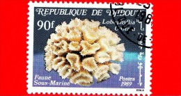 GIBUTI - Djibouti - Nuovo - 1989 - Vita Marina - Coralli E Spugne - Labophyllia Costata - 90 - Gibuti (1977-...)