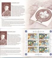 2007. Moldova, Europa 2007, Booklet, Of 3 Sets, Mint/** - 2007
