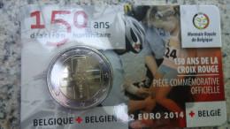 2 EURO Coincard *** 2014 Belgique *** Rode Kruis 150 Jaar/ans Croix Rouge !!! - Belgique