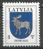 LV 2007- COAT OF ARMS, LATVIA, 1 X 1v, MNH - Briefmarken