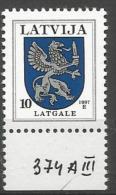 LT 1997- COAT OF ARMS, LATVIA, 1 X 1v, MNH - Briefmarken