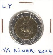 1/2 Dinar Lybie / Lybia Bi-métallique / Bimetalic 2004 - Libië