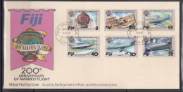 Fiji 1983 200th Anniversary Of Manned Flight FDC - Airplanes
