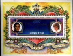 LESOTHO , 1981, Mint Never Hinged Stamps Block Nr. 9, Royal Wedding,  F1709 - Lesotho (1966-...)
