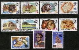 LESOTHO , 1980, Mint Never Hinged Stamp(s)  , Overprints,   MI 297-307, #2652 - Lesotho (1966-...)