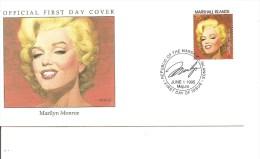 Acteurs -Marilyn Monroe ( FDC Des Marshall De 1995 à Voir) - Acteurs
