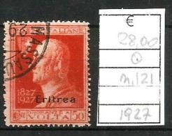 1927  ERITREA  Volta   Valore Da  50 Cent   Usato - Eritrea
