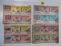 4 BILLETS DE LOTERIE 1943.  SERIE A Et B.Avec Timbres. - Billets De Loterie