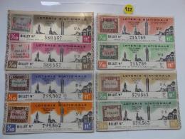 4 BILLETS DE LOTERIE 1942.  SERIE A Et B.Avec Timbres. - Billets De Loterie
