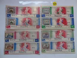 4 BILLETS DE LOTERIE 1943.  SERIE A Et B.Avec Timbres. - Lottery Tickets