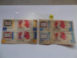 2 BILLETS DE LOTERIE 1942.  SERIE A Et B.Avec Timbres. - Lottery Tickets