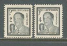 1948 PHILIPPINES PRESIDENT ROXAS MICHEL: 488-489 MNH ** - Filipinas