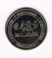 ¨¨ PENNING NATIONALE POSTCODE LOTERIJ 2013  - 7 POSTCODES  € 48,9  MILJOEN - Pays-Bas