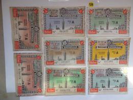 8  BILLETS DE LOTERIE 1942 . Serie A - Lottery Tickets