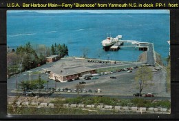 """USED POSTCARD Of BAR HARBOR TERMINAL WITH YARMOUTH N.S. FERRY """"BLUENOSE"""" IN DOCK (July 14 1959) - Other"""