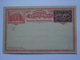 GUATEMALA EARLY POSTAL STATIONARY CARD UNUSED - Guatemala