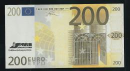 "Test Note ""REIS""  200 EURO, Testnote, Typ B = Rs. Teils Farbig, Beids. Druck, RRR, UNC - EURO"