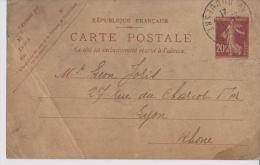 ENTIERS POSTAUX SEMEUSE LOT DE 3 BELLES CARTES - Postal Stamped Stationery