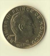 ** 20 CENT MONACO 1982  SUP+ ** - 1960-2001 Nouveaux Francs