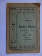 NUMISMATIQUE - CATALOGUE DE MONNIAES ET MEDAILLES - N°27 - SEPTEMBRE 1910 - L.FULDAUER - 34 PAGES - FRANCAIS - Literatur & Software