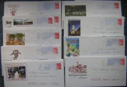 PAP  Prêt à Poster Oblitérés, Lot 150  PAP Différents  Sur Timbre Luquet La Poste , Départements Divers - Postal Stamped Stationery