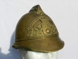 CASQUE POMPIERS 1886 --  Ville De SERIS   -  Direct Grenier ...#.3 - Firemen