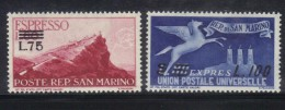 SAN MARINO 1957 , Espressi Il N. 23/24  ***  MNH - Express Letter Stamps