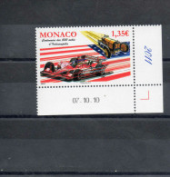 MONACO : 100 Ans De La Couse Automobile Les  500 Miles D'Indianapolis (USA)  - Sport - Automobile - - Unused Stamps
