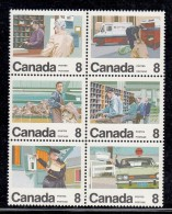 Canada MNH Scott #639a Block Of 6 8c Canada´s Letter Carrier Service - Poste